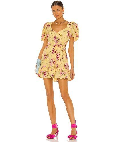 Желтое платье мини на молнии Likely