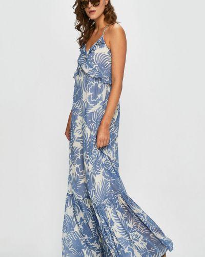Джинсовое платье макси расклешенное Pepe Jeans