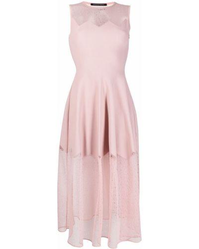 Шелковое платье макси - розовое Antonino Valenti