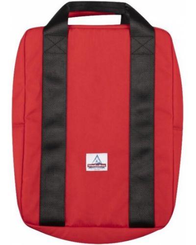Czerwony plecak na laptopa z haftem Holubar
