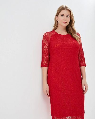 Вечернее платье осеннее красный Svesta
