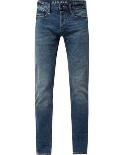 Niebieskie mom jeans bawełniane Denham