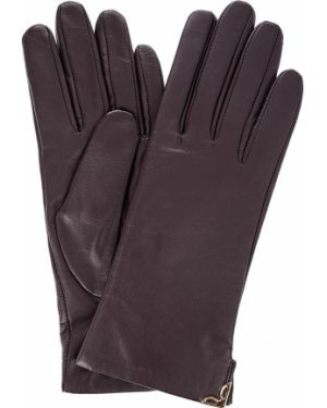Кожаные перчатки с шерстяной подкладкой шерстяные Eleganzza