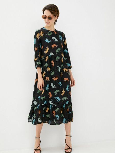 Платье прямое черное Sela
