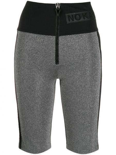 Нейлоновые классические облегающие черные шорты No Ka 'oi