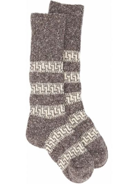 Коричневые вязаные носки Isabel Marant