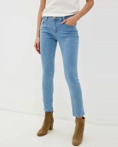 Укороченные джинсы - голубые Roberto Cavalli