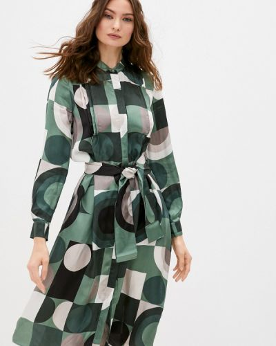 Повседневное зеленое повседневное платье Max&co