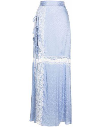 С завышенной талией синяя юбка из вискозы Alice Mccall