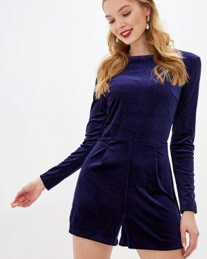 Комбинезон с шортами свободный синий Befree