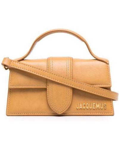Кожаная сумка через плечо - желтая Jacquemus