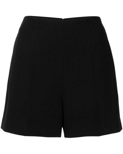 Черные с завышенной талией шорты на молнии Roberto Cavalli