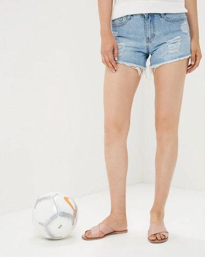 Голубые джинсовые шорты By Swan