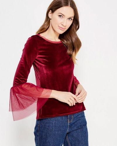 Бордовая блузка с длинным рукавом с длинными рукавами Adl