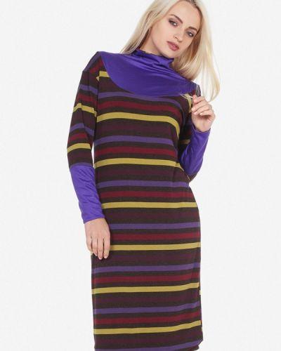 Платье осеннее фиолетовый Artwizard