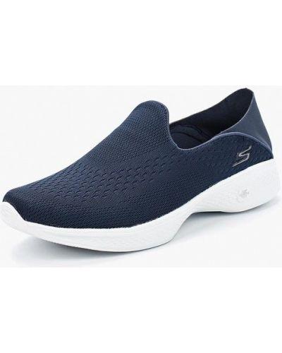 Слипоны синий Skechers