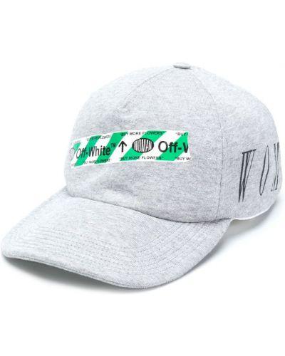 Серая кепка с логотипом Off-white