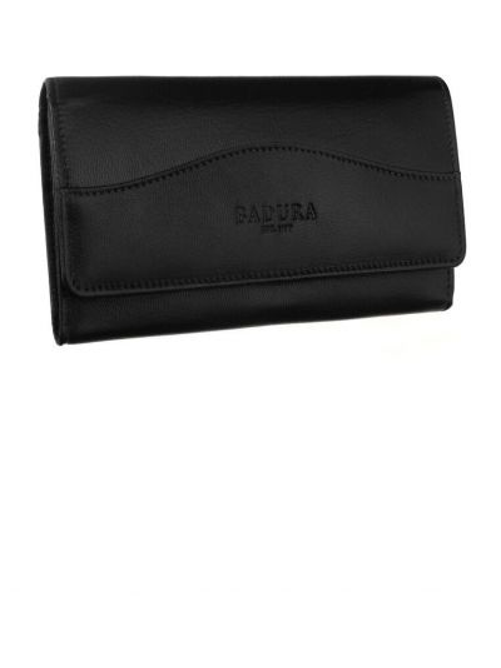Czarny portfel skórzany Renee