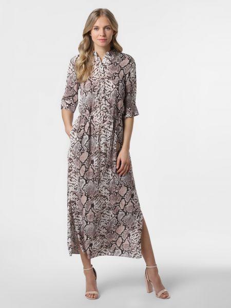 Brązowa sukienka elegancka Ipuri