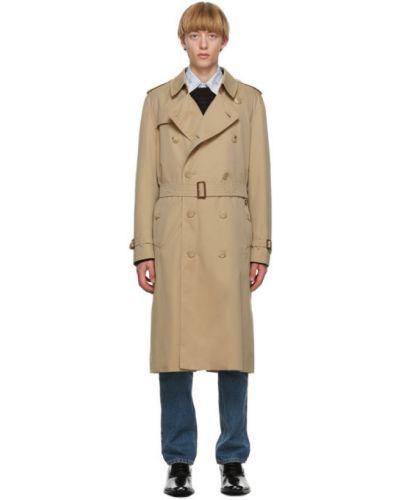 Długi płaszcz z kołnierzem zapinane na guziki z kieszeniami z mankietami Burberry