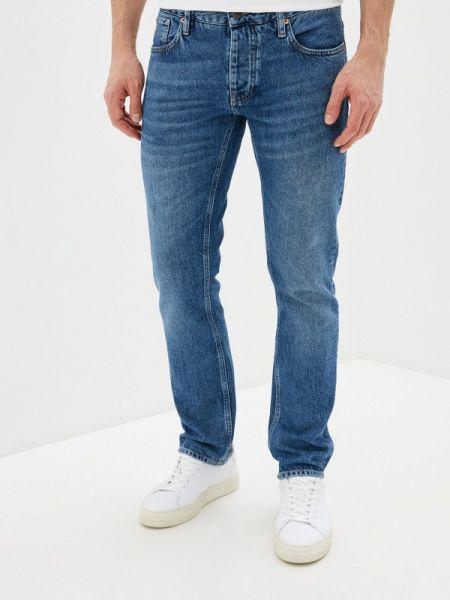 Синие зауженные джинсы-скинни из микрофибры Rifle