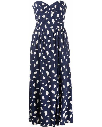 Расклешенное платье - синее Reformation