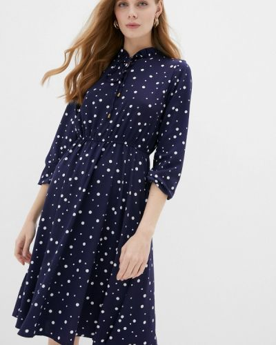 Прямое синее платье Froggi
