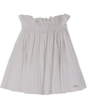 Biała spódnica bawełniana No. 21