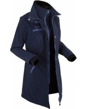 Длинная куртка на молнии укороченная Bonprix