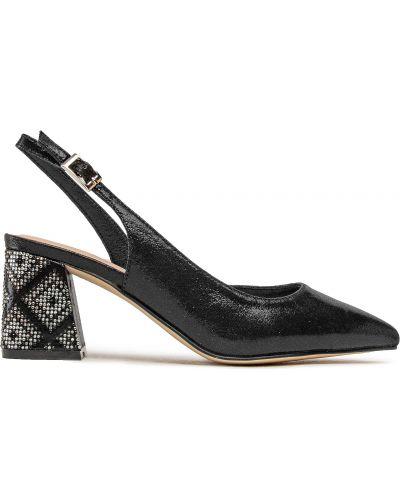 Czarne sandały casual Menbur