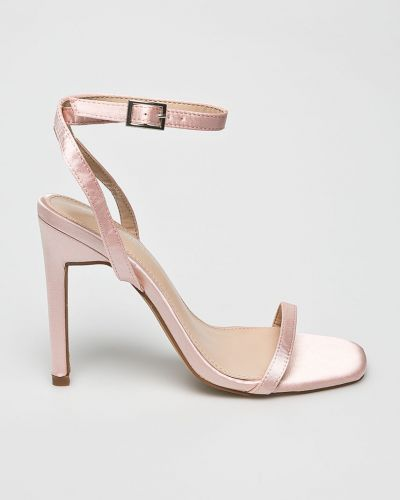Туфли на каблуке на шпильке розовый Public Desire