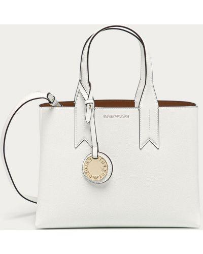 Biała torba z krótkimi uchwytami Emporio Armani
