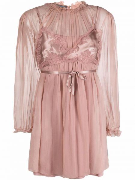 Шифоновое платье макси - розовое Alberta Ferretti
