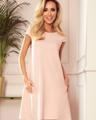 Różowa sukienka materiałowa oversize Numoco