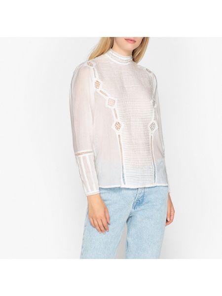 Блузка с длинным рукавом винтажная с воротником на кнопках свободного кроя Berenice