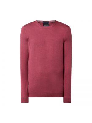 Prążkowany różowy sweter wełniany Christian Berg Men