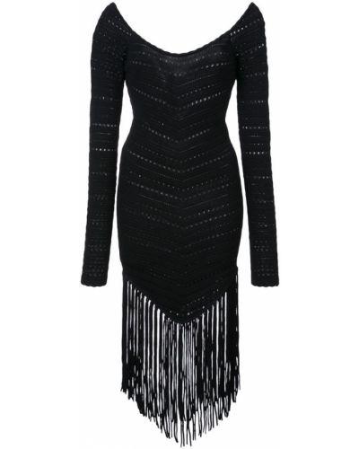 Платье с бахромой из вискозы Ronny Kobo