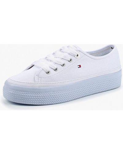 Белые низкие кеды Tommy Hilfiger