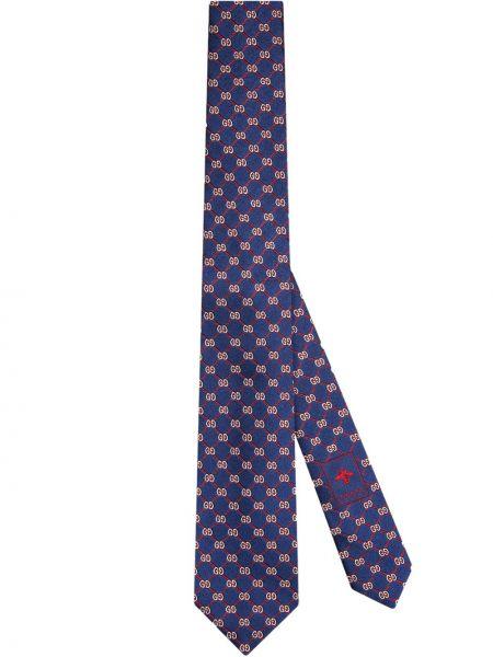 Krawat jedwab żakard Gucci
