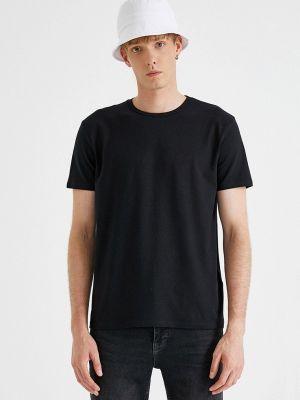 Черная футболка осенняя Koton