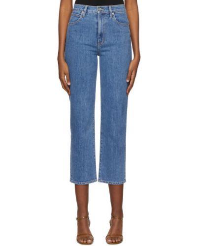 Прямые серебряные укороченные джинсы стрейч Slvrlake