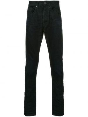 Czarne jeansy bawełniane z paskiem Kent & Curwen