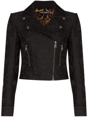 Хлопковая черная куртка байкерская Dolce & Gabbana