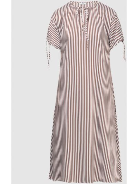 Коричневое платье миди Peserico