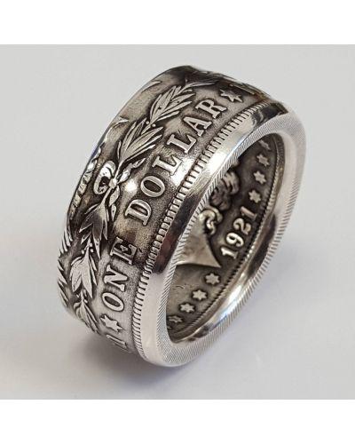 Красное кольцо металлическое винтажное Rozetka