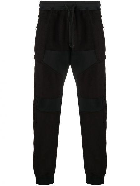 Prążkowane czarne spodnie bawełniane Stone Island Shadow Project