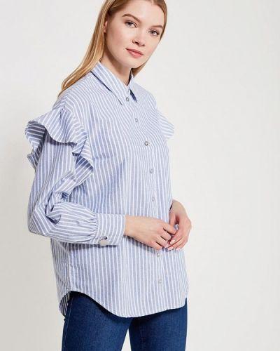 Голубая блузка с рюшами Only