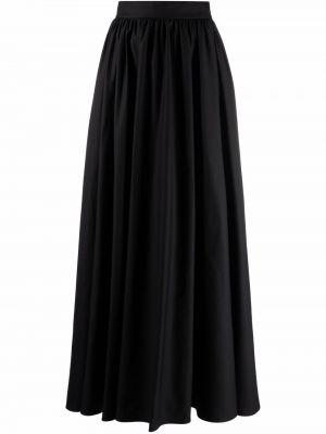 Черная юбка миди с завышенной талией Elie Saab