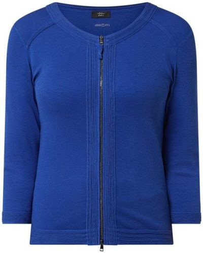 Niebieska kurtka sportowa bawełniana Marc Cain