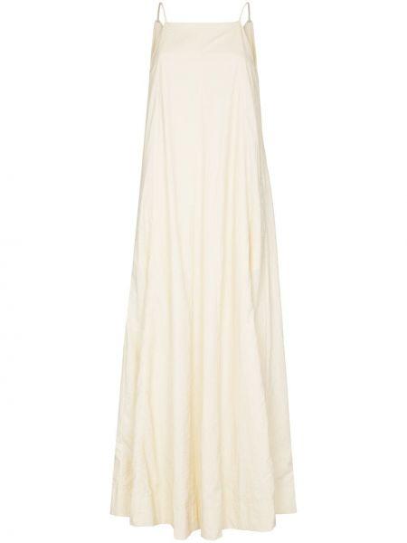 Biała sukienka długa z haftem Sweaty Betty